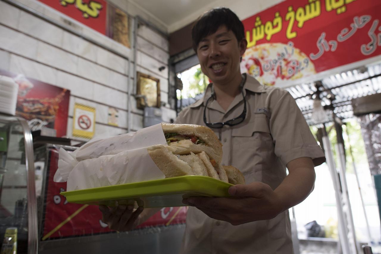 テヘランに帰り、サンドイッチ食す
