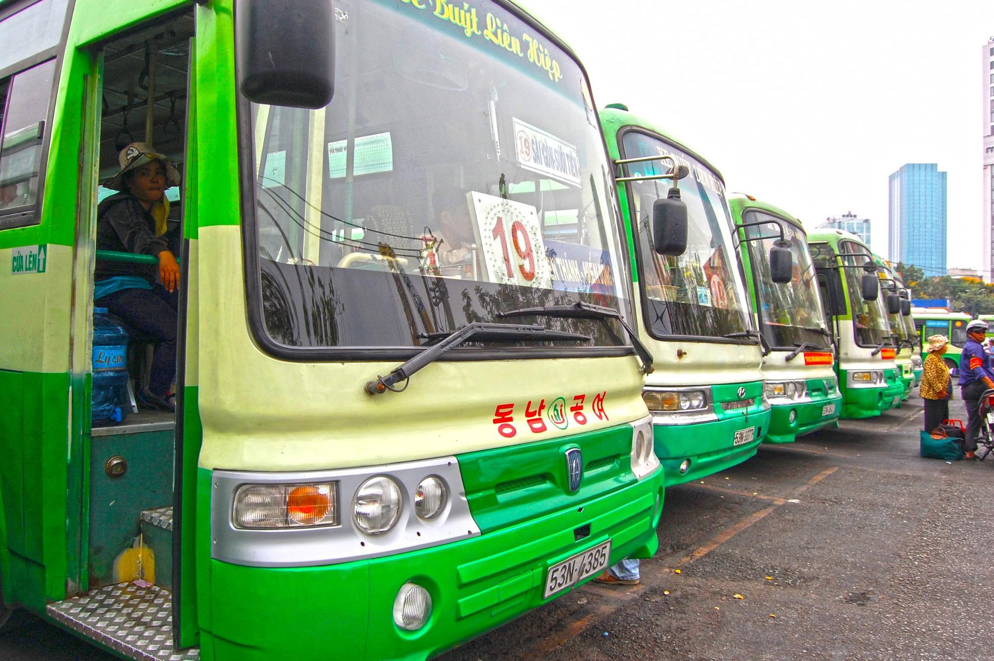 ホーチミンのバス